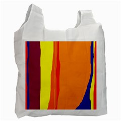 Hot colorful lines Recycle Bag (One Side)