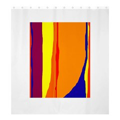 Hot colorful lines Shower Curtain 66  x 72  (Large)