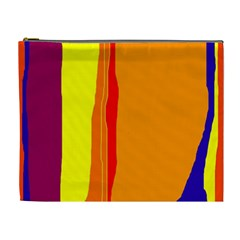 Hot colorful lines Cosmetic Bag (XL)