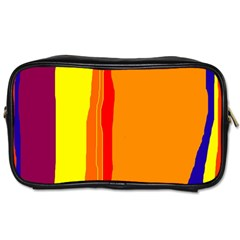 Hot colorful lines Toiletries Bags 2-Side
