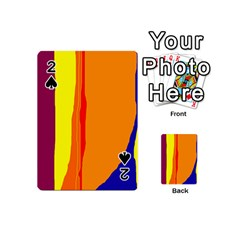 Hot colorful lines Playing Cards 54 (Mini)