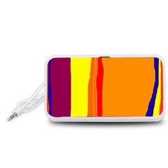 Hot colorful lines Portable Speaker (White)