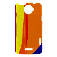 Hot colorful lines HTC One X Hardshell Case
