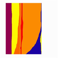 Hot colorful lines Large Garden Flag (Two Sides)
