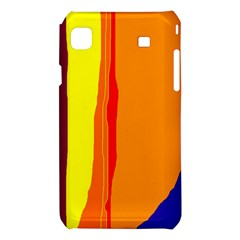 Hot colorful lines Samsung Galaxy S i9008 Hardshell Case