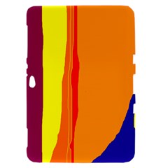 Hot colorful lines Samsung Galaxy Tab 8.9  P7300 Hardshell Case
