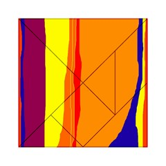 Hot colorful lines Acrylic Tangram Puzzle (6  x 6 )