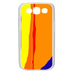 Hot colorful lines Samsung Galaxy S III Case (White)