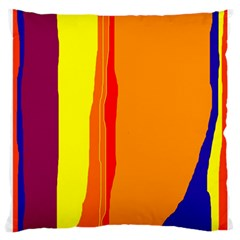 Hot colorful lines Large Cushion Case (Two Sides)