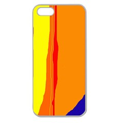 Hot colorful lines Apple Seamless iPhone 5 Case (Clear)