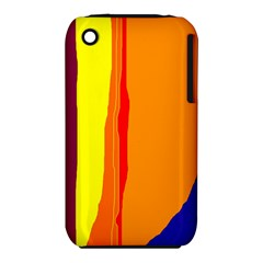 Hot colorful lines Apple iPhone 3G/3GS Hardshell Case (PC+Silicone)