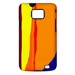 Hot colorful lines Samsung Galaxy S II i9100 Hardshell Case (PC+Silicone)