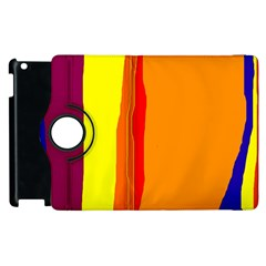 Hot colorful lines Apple iPad 3/4 Flip 360 Case