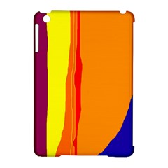 Hot colorful lines Apple iPad Mini Hardshell Case (Compatible with Smart Cover)