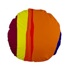 Hot colorful lines Standard 15  Premium Round Cushions