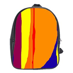 Hot colorful lines School Bags (XL)