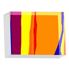 Hot colorful lines 5 x 7  Acrylic Photo Blocks