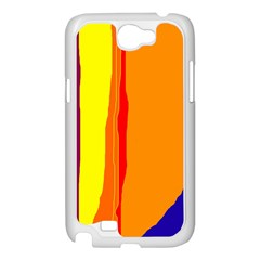 Hot colorful lines Samsung Galaxy Note 2 Case (White)