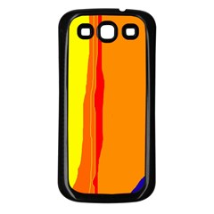 Hot colorful lines Samsung Galaxy S3 Back Case (Black)