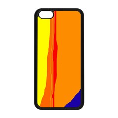 Hot colorful lines Apple iPhone 5C Seamless Case (Black)