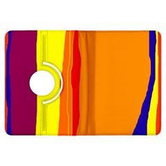 Hot colorful lines Kindle Fire HDX Flip 360 Case