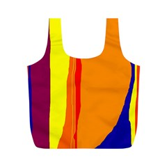 Hot colorful lines Full Print Recycle Bags (M)