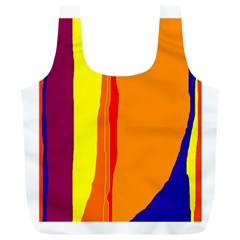Hot colorful lines Full Print Recycle Bags (L)