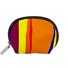 Hot Colorful Lines Accessory Pouches (small)