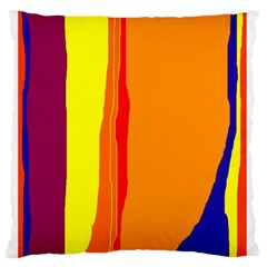 Hot colorful lines Standard Flano Cushion Case (One Side)
