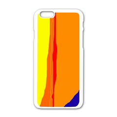 Hot colorful lines Apple iPhone 6/6S White Enamel Case