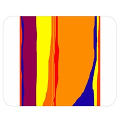 Hot colorful lines Double Sided Flano Blanket (Medium)