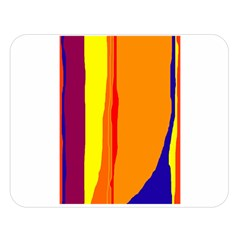 Hot colorful lines Double Sided Flano Blanket (Large)
