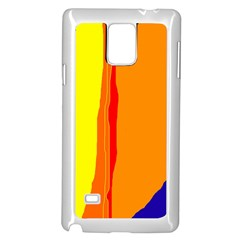 Hot colorful lines Samsung Galaxy Note 4 Case (White)