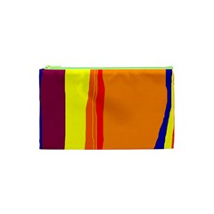 Hot colorful lines Cosmetic Bag (XS)