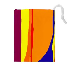 Hot colorful lines Drawstring Pouches (Extra Large)