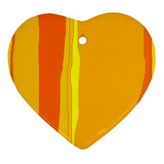 Yellow and orange lines Ornament (Heart)