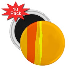 Yellow and orange lines 2.25  Magnets (10 pack)