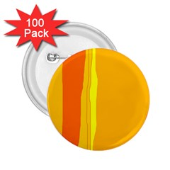 Yellow and orange lines 2.25  Buttons (100 pack)