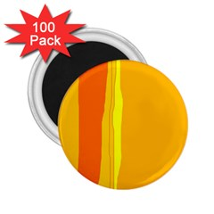 Yellow and orange lines 2.25  Magnets (100 pack)