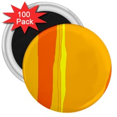Yellow and orange lines 3  Magnets (100 pack)