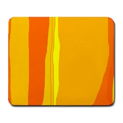 Yellow and orange lines Large Mousepads