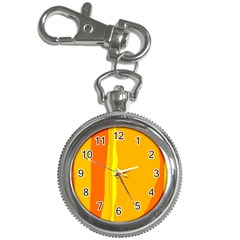 Yellow and orange lines Key Chain Watches