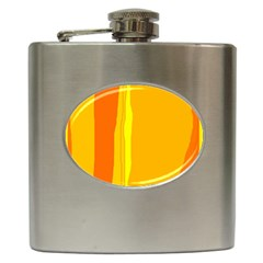 Yellow and orange lines Hip Flask (6 oz)