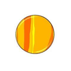 Yellow and orange lines Hat Clip Ball Marker