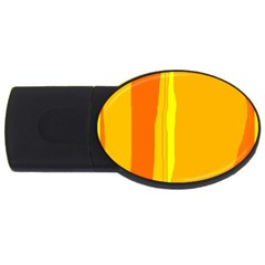 Yellow and orange lines USB Flash Drive Oval (4 GB)
