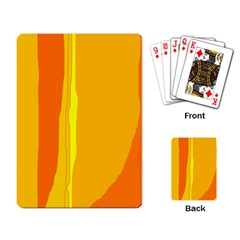 Yellow and orange lines Playing Card