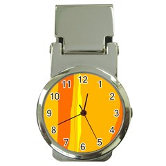 Yellow and orange lines Money Clip Watches