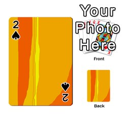 Yellow and orange lines Playing Cards 54 Designs