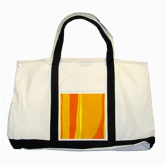 Yellow and orange lines Two Tone Tote Bag