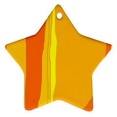 Yellow and orange lines Star Ornament (Two Sides)